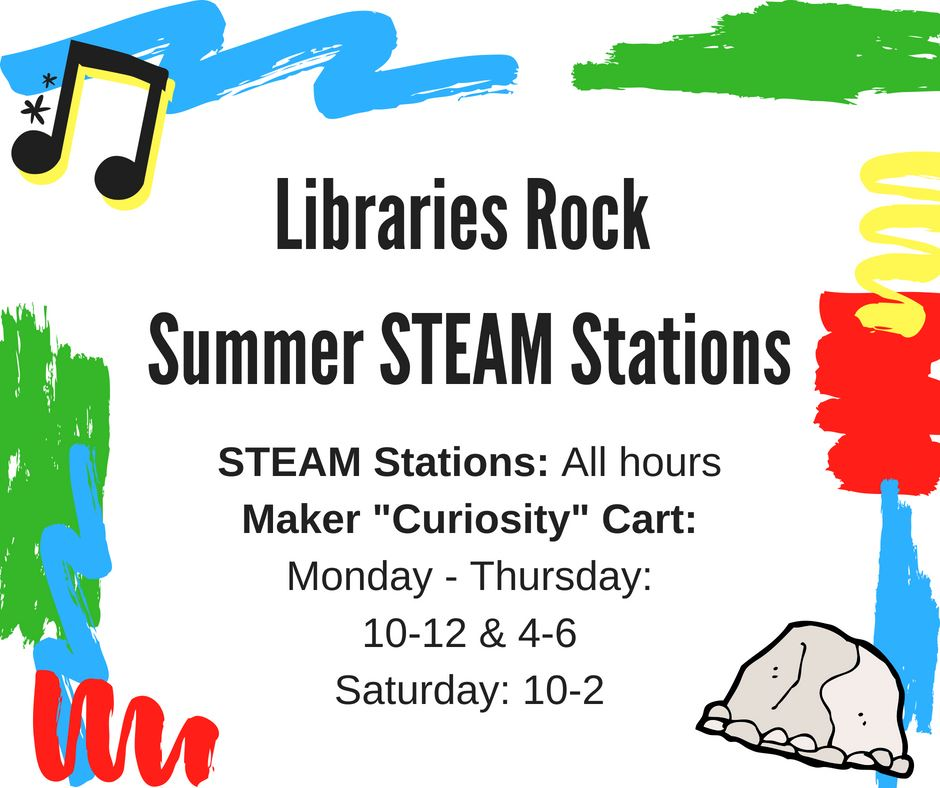 Libraries Rock Summer STEAM Stations
